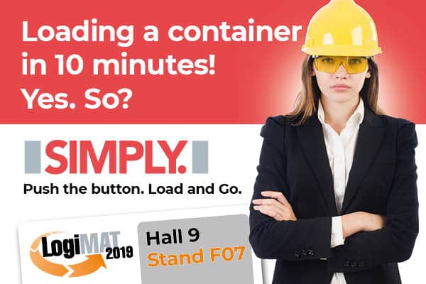 SIMPLY. Now also as a hot spot. At LogiMAT, Hall 9, Booth F07
