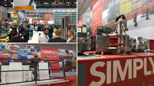 SIMPLY. made a huge success at LogiMAT 2019, showing its container filler, together with loading system solution to hundreds of thousands of visitors.
