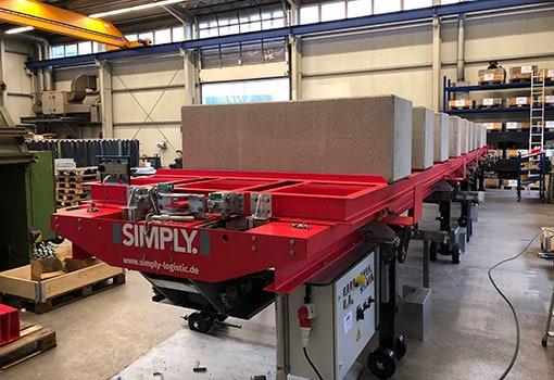 SIMPLY ist ein Container Beladesystem das nur aus wenigen Komponenten besteht. Das steigert die Zuverlässigkeit und die Flexibilität.
