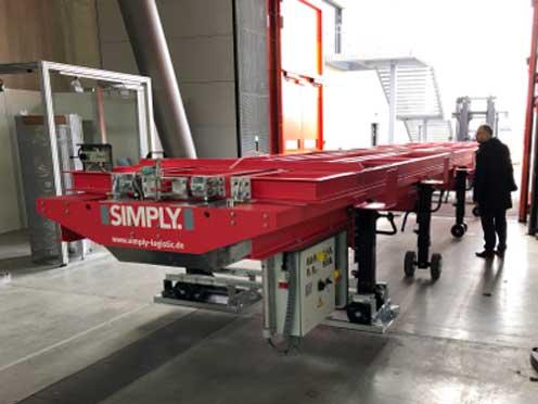 Der wesentlicher Erfolgsfaktor des SIMPLY. stellt die herkömmliche Vorgehensweise beim Beladen auf den Kopf und lautet: Container beladen vor dem Container.